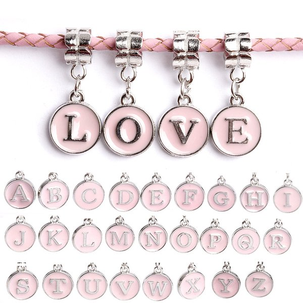 Letter pendant cute drip pendants DIY bracelet accessories 26 letters fit Pandora style