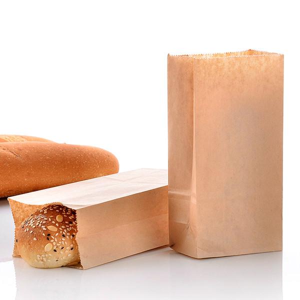 24*13*8cm Disposable Kraft Paper Sandwich Bag Baking Cake Toast Bread Pack Bag Christmas Dessert Gift Package 100pcs/lot SK738