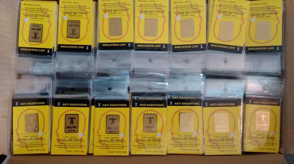Manufacture Hotsale-wholesale !24K-gold mobile phone anti radiation sticker , cell phone anti radiation chip ,100pcs/lot free shoping