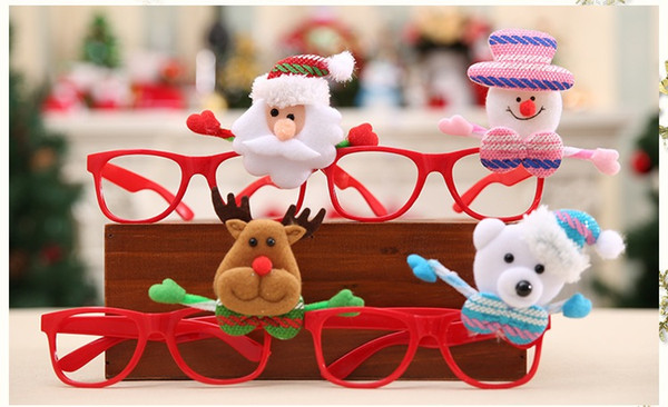 Christmas Evening Party.Christmas Spectacle Frame Glasses Cartoon Decoration Ornaments Glasses Frames Evening Party Toy Kids Gifts For Adult Hb047 Wholesale Christmas Decor