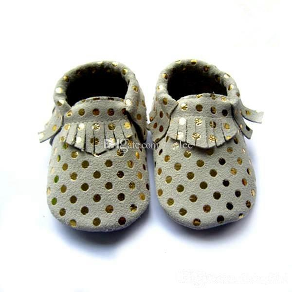 1Pair Sample Retail Baby fringe moccs 100% Top Layer Cow Leather baby moccasins girls boys soft leather moccs baby booties toddler cow shoes