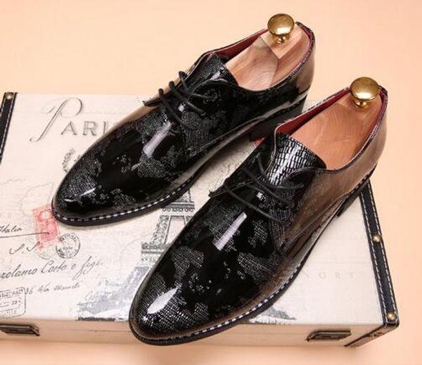 Hot Sale Genuine Leather Men Flats Shoes,Hand Sewing Men Oxfords Hombres,Trendy Men Leather Shoes Size: EU38-43