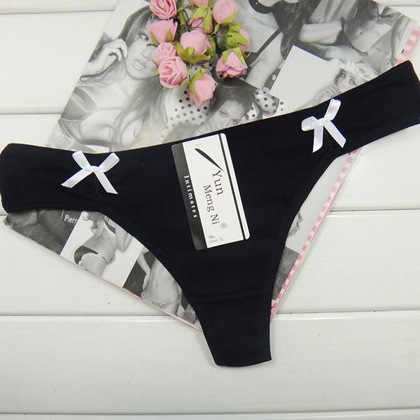 Pack de 12 Low Rise Solid CottonThong Underwear Sexy tanga Lady Panties T-Back bragas de mujeres la ropa interior Calzoncillos al por mayor