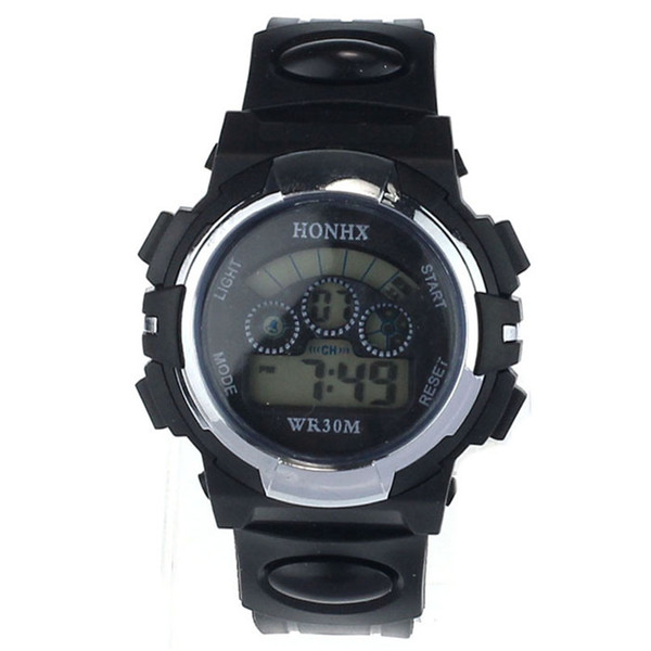 Wholesale-Sanwony New Casual Digital LED Alarm Date Sports Quartz Wrist Watch For Men Free shipping&Wholesale
