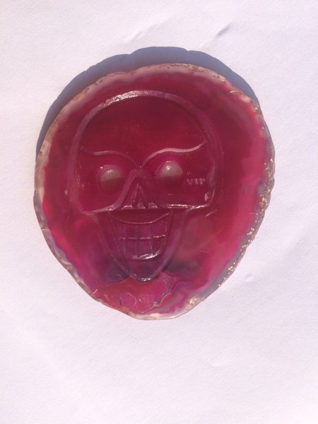 8=11cm/piece natural crystal red skull drusy agate stone slices geode beautiful brazilian cup coaster agate slices Naturel Agate Slices