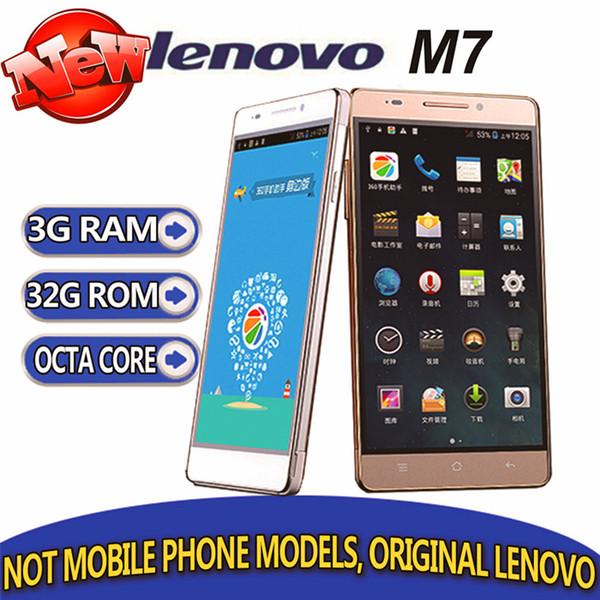 selling original Lenovo m7 Mtk6592 Octa Core 3G RAM 32G ROM 3g wcdma 5.5 inch android 4.4 13MP Dual Camera GPS Google play Free shipping