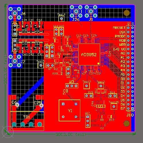 Ad9852 module DDS pcb board Free shipping 9852 dds module schematic designed by Altium Designer 9