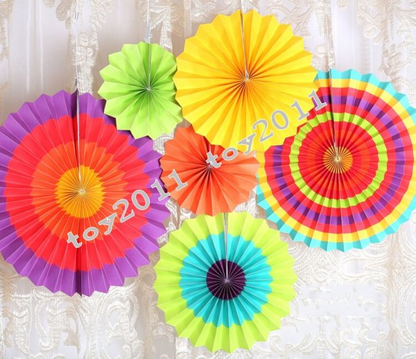 Hanging paper flowers crafts coupons and promotions get cheap fiesta paper fan decorations 6pcs 1set decorative foldable tissue paper fan flower craft wedding garland modern party hanging decoration mightylinksfo