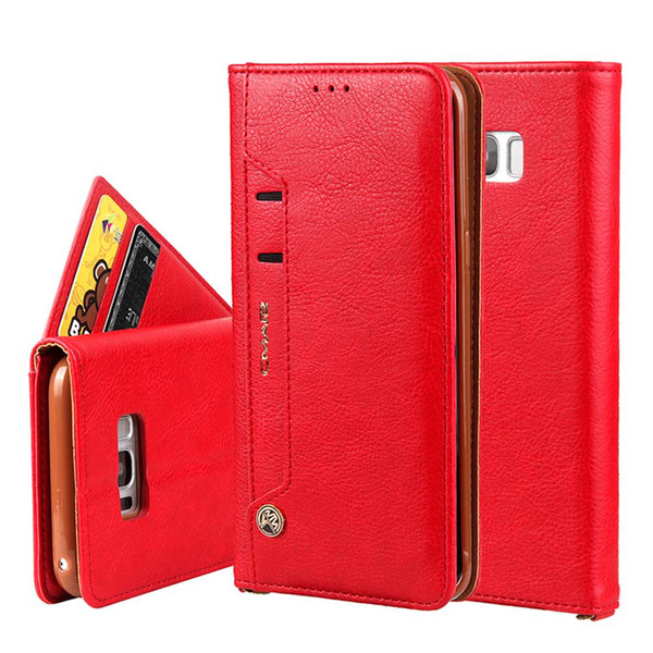 For Apple 8 case Flip Leather Case For Samsung Galaxy S7/S8 Wallet Phone Bag Cover For Samsung Galaxy S7 Edge Cases With Card Holders