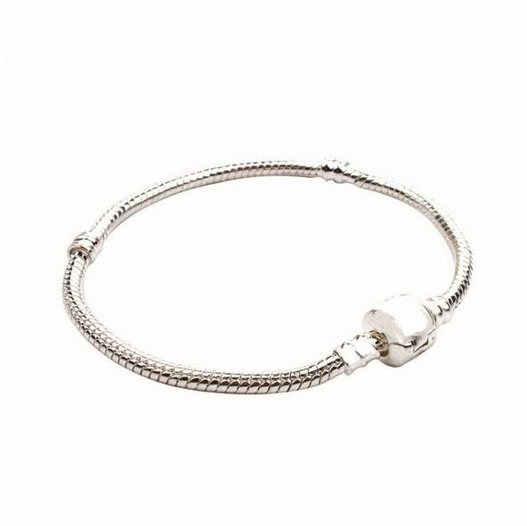 Brand New Mixed Size Silver Snake Chain for Big Hole European Style Beads fit Murano Beads Pandora DIY Bracelets and Bangles Accessories