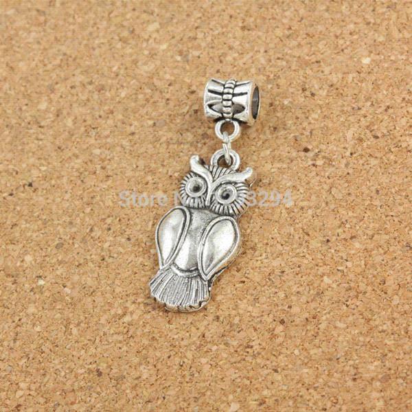 Mix 30pcs Owl Series Tibetan silver beads charm DIY beads Fit pandora Charm Bracelet Chamilia Bangles Necklace MC 308