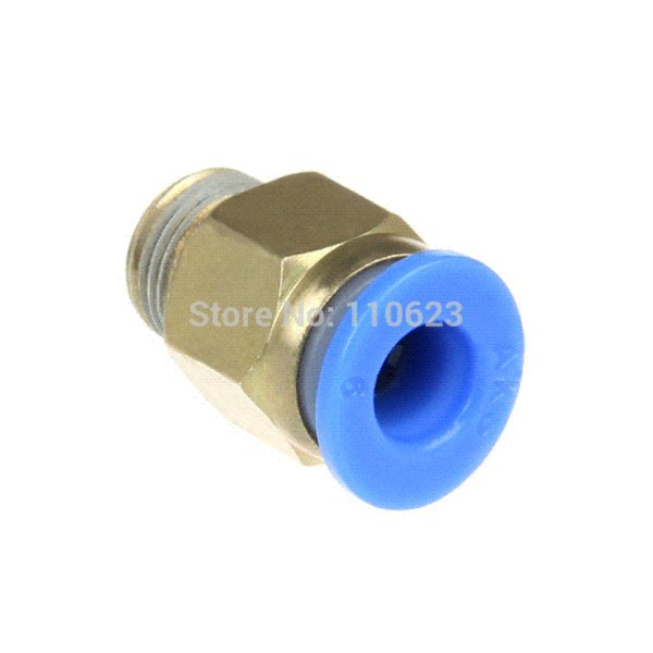 "Straight Push In Pneumatic Fitting connectors Thread 1/8"" 4 mm PTFE tube for 1.75 mm filament"