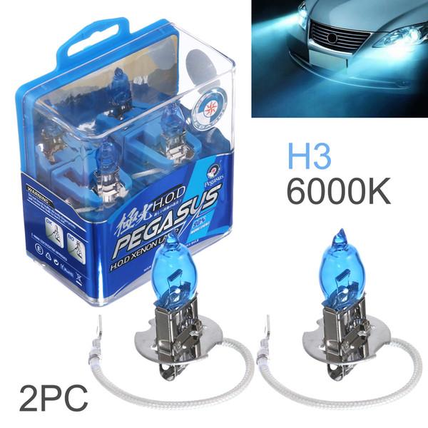 DHL Wholesale 2pcs H3 100W White Light Super Bright Car HOD Xenon Halogen Lamp Auto Front Headlight Fog Bulb CLT_60W