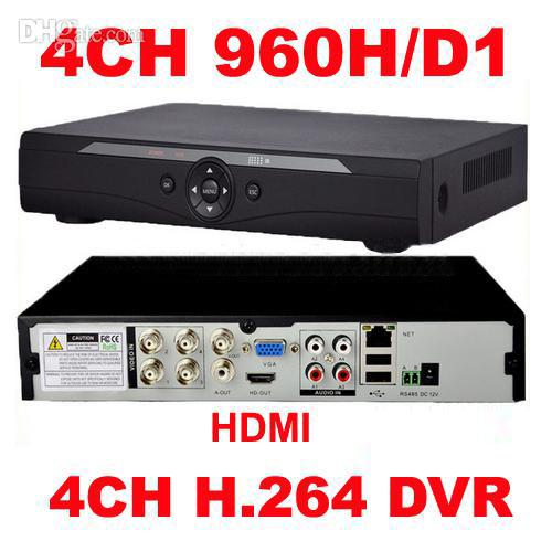 Wholesale-4Channel H.264 real time full D1 960H CCTV DVR network HDMI 1080P Security 4CH DVR recorder For mobile online View Free shipping