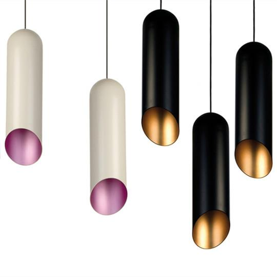 Free shipping New White Or Black Ceiling Lamp Tom Dixon Pipe Pendant Light Chandeliers Fixture