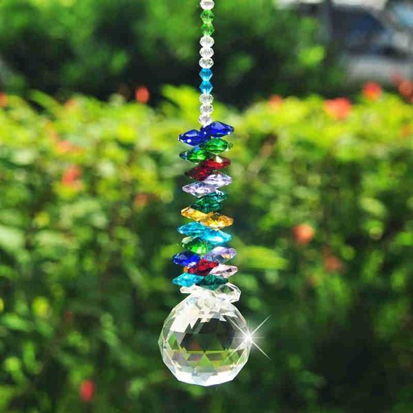 5PCS Glass Crystal Suncatcher Ball Pendant Chandelier Part Prism Hanging Pendants Home Decorations 30mm 40mm W042