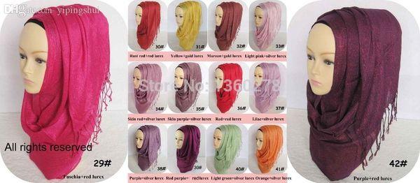 Wholesale-P.healthy-Wholesale Glitter Scarf shimmer Shawls Muslim shiny Hijab -SCF14414_7715-Free Shipping