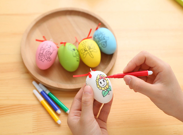 Simulated eggs diy easter eggs children graffiti handwork and simulated eggs diy easter eggs children graffiti handwork and festival gift decoration for home plastic negle