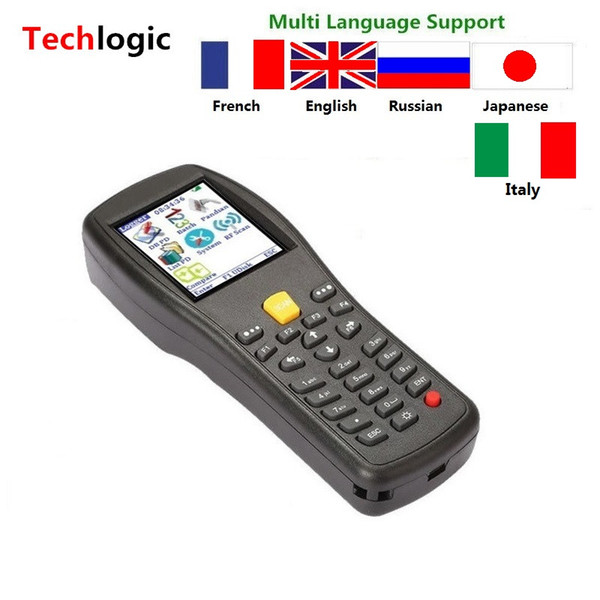top popular Wholesale- Techlogic X5 Wireless Laser Barcode Scanner Handheld Terminal PDA Warehouse Supermarket Inventory Display Product Information 2019
