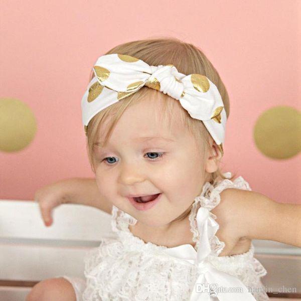 2018 Tempo-limitado Cor Lace Headbands Zl Novo Bebê Atada Headband Criança Bolinhas Bolinhas Orelhas de Coelho Acessórios Para o Cabelo Cocar Zl73