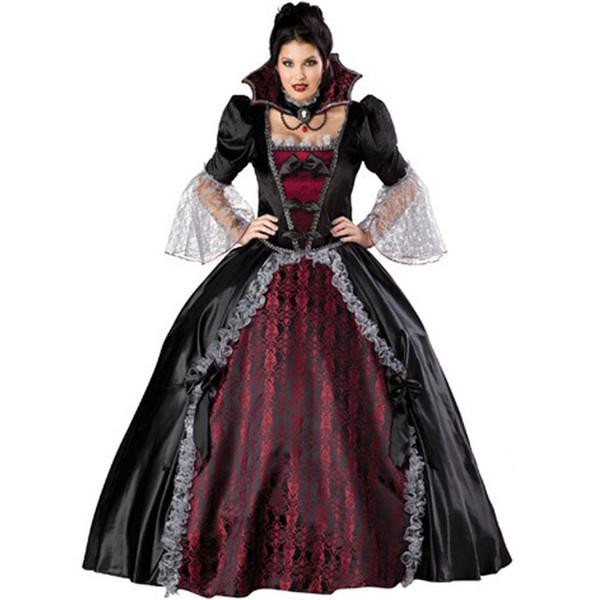 Queen Of The Vampires Costume Adult Women Halloween Party Costumes Sexy Vampires Cosplay Fantasy Dresses For Ladies