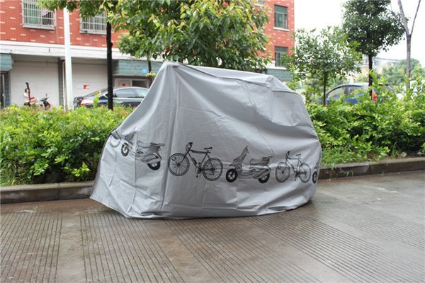 top popular DHL Bike Bicycle Dust Cover Cycling Rain And Dust Protector Cover Waterproof Protection Garage 15pcs lot 1203#03 2020