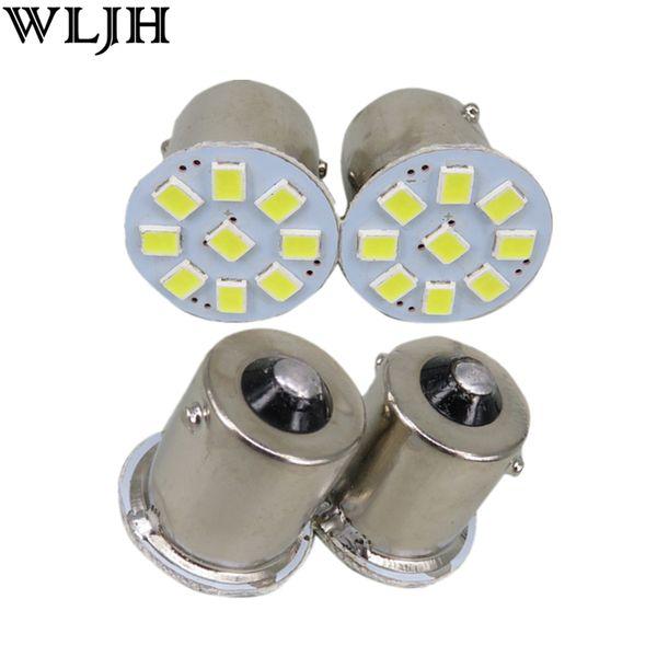 WLJH 24V 1157 1156 BA15S P21W 3528 SMD AUTO Car Truck Trailer RV Brake Parking Reverse Backup Lights Signal Lamp Bulb External Lights