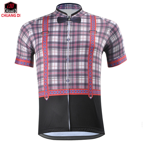 ZM Men's Cycling Clothing Gentleman Shirt Summer Style Bike Bicycle Cycling Jersey Top Outdoor Sportwear Jersey Free shipping