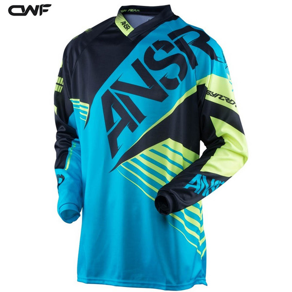 Bike Motocicleta De Motocross DH MX Downhill Bike Long Sleeve Riding Gear ATV Team Cycling Racing Jersey Off-road Moto Cycle Shirt