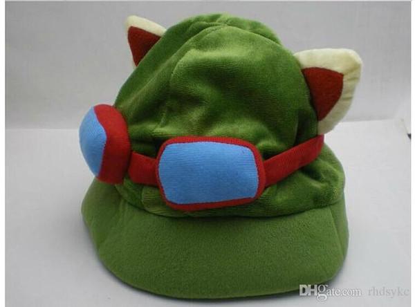 League of Legends Cosplay Teemo Hüte Partycaps PlüschCotton LOL Plüschtiere Hüte Lol Fans Partyhüte