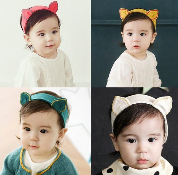 Güzel Bebek Bebek Çocuk Sevimli Saç Bantları Hayvan Kulaklar 3D Çocuk Saç Aksesuarları Pretty Bantlar Renkli Band K6420