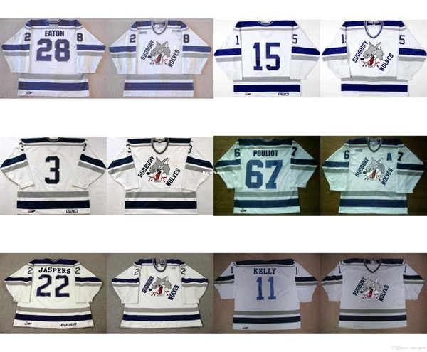 custom Customize OHL Sudbury Wolves Jersey Mens Womens Kids 3 Matthew Hodges 15 Kevin Beaumont 22 Jason Jaspers Hockey Jerseys Goalit Cut Ch