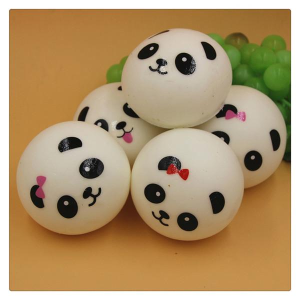 Kawaii Squishy 3.9 Inch Slow Rising Cute Jumbo Panda Squishy Charm Panda Bread Keychains Squishy Toys Free Shipping