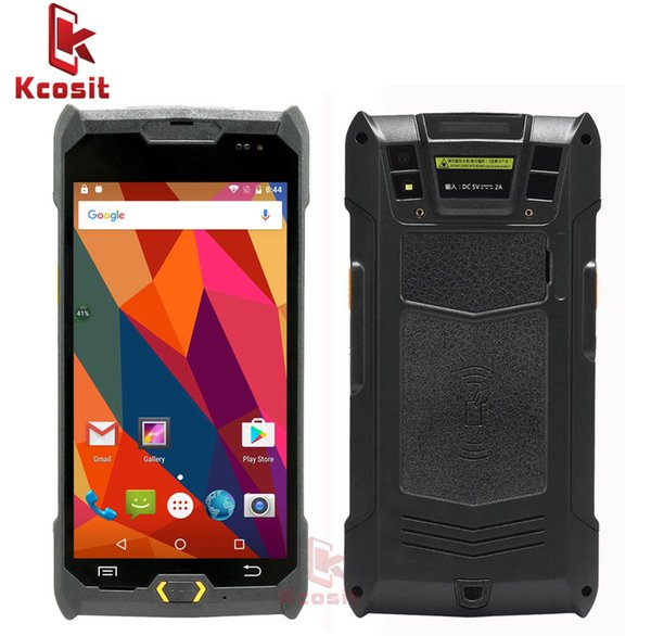 Wholesale- Kcosit 1D 2D Laser Barcode Android 6.0 Scanner IP67 Waterproof Phone PDA Handheld Terminal Data Collector inventory Logistics