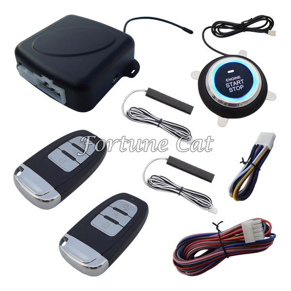 Smart Rolling Code PKE Car Alarm System With Car Engine Start Stop Finger Touch Button Auto Lock & Unlock Auto Arm & Disarm