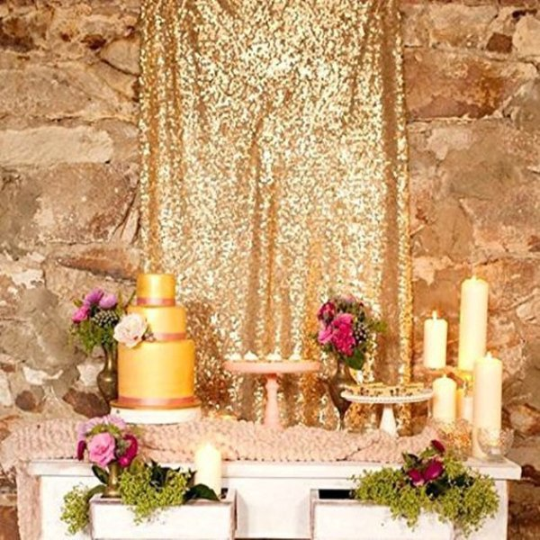 For Sale 8 X 8 , Ready to Dispatch ,Gold Sequin Backdrops, Sequin Photo Booth Backdrop, wedding Backdrops, Sparkling Photography Prop