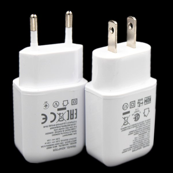 Carga rápida Universal 5V 1.8A 9V 1.8A Eu EE. UU. Casa adaptador de corriente del cargador de pared para samsung s7 s8 Lg G5 G4 V10 NEXUS Tipo c Cable Usb