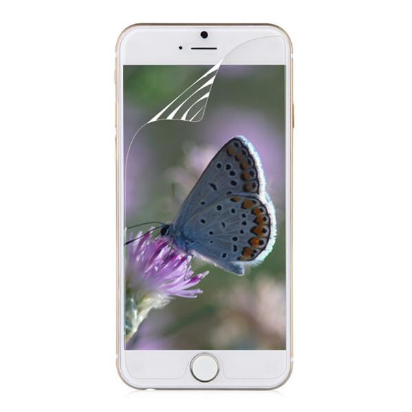 10pcs / lot LCD claro brillante pantalla frontal película protectora para iphone 6 6g protector de pantalla de 4.7 pulgadas con paño de limpieza
