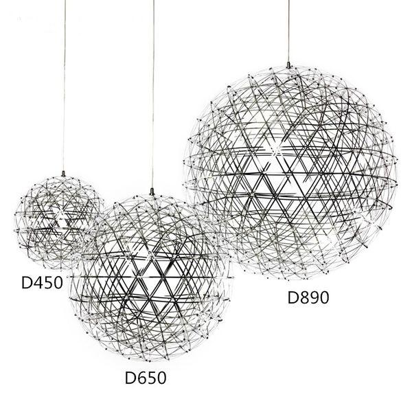 Stainless Steel Pendant Lights Lamps 110V 240V LED Firework Light Ball for Restaurant Cafe Bar Dining Living Room home indoor lighting