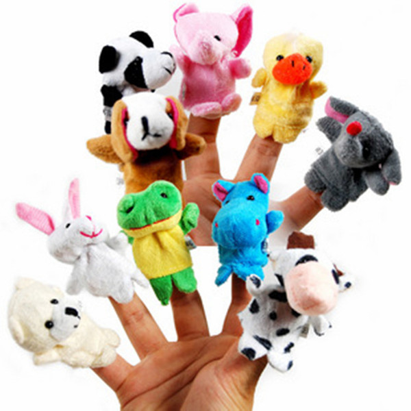 best selling Even mini animal finger Baby Plush Toy Finger Puppets Talking Props 10 animal group Stuffed & Plus Animals Stuffed Animals Toys Gifts Frozen