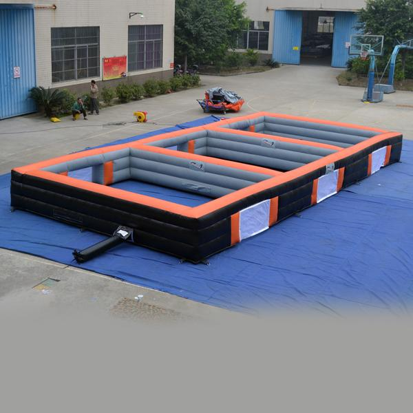 AOQI new design Inflatable football court inflatable football game for kid inflatable playground for sale inflatable sports game