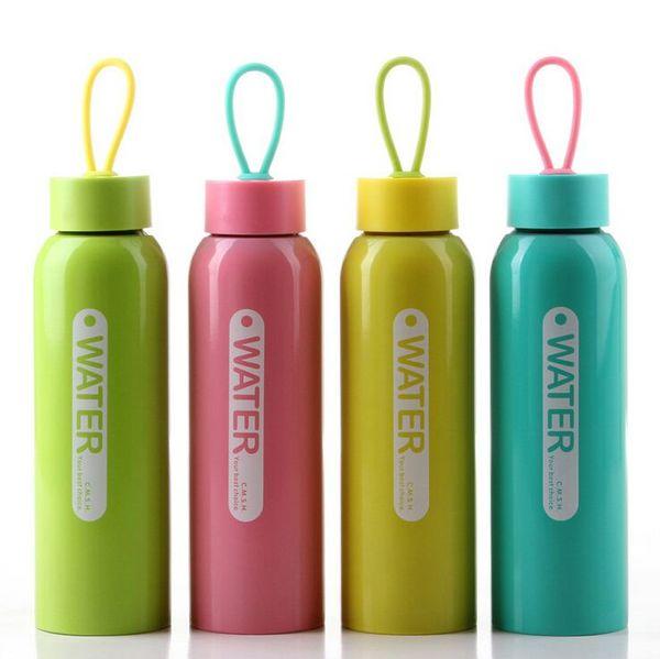 2015 Yeni Basit Taşınabilir Su Şişesi Bardağı Açık Spor renkli İçecek Sürahi Ücretsiz Kargo