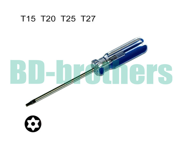 best selling T15 T20 T25 T27 With Hole Torx Screwdriver Key PVC Colorized Bar Handle Screwdrivers Repair Tool Wholesale 360pcs lot
