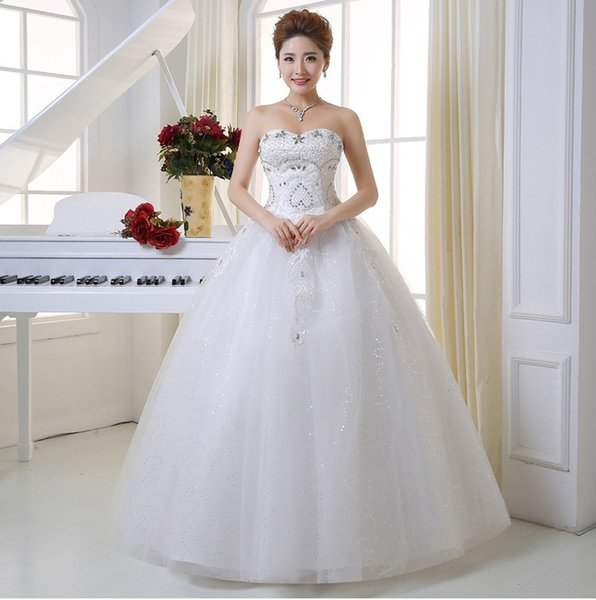 Shanghai Story Vintage Wedding Dress Vintage White Princess China Bridal Gown Lace Strapless Wedding Dress HS057