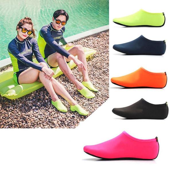 top popular Barefoot Water Skin Shoes Aqua Socks for Beach Pool Sand Swim Surf Yoga Water Aerobics Sand Socks 2020