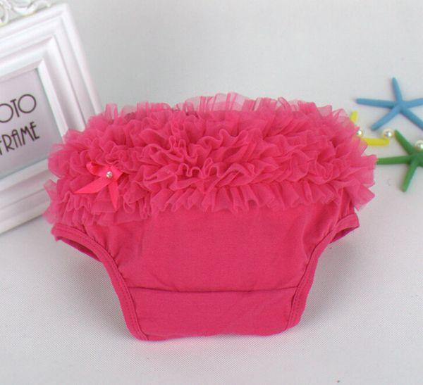 best selling 45pcs Baby Ruffled Knit Bloomers Ruffles Pettiskirt Panties Girls RUFFLED Bloomer Girl PP Wave Dress PP001