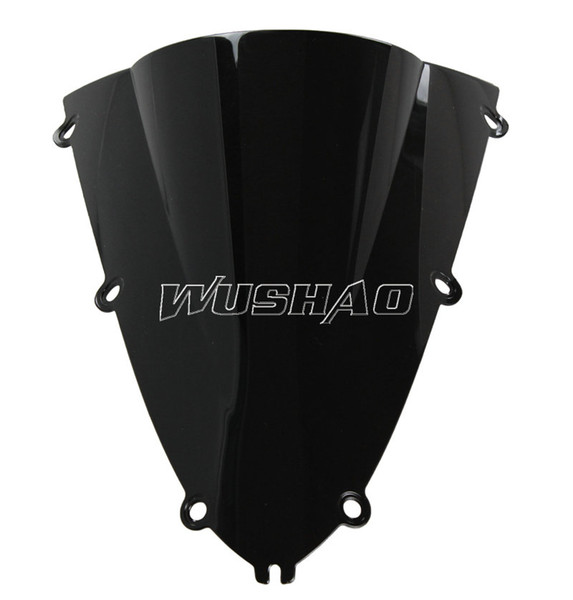 Motorcycle Double Bubble Windshield WindScreen For 1998-1999 Yamaha YZF 1000 R1 98 99 Black