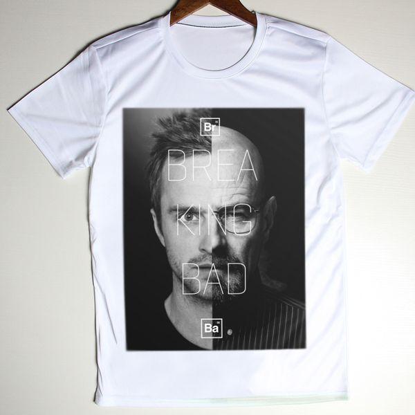 5bb3399cc Wholesale-New Summer Men T Shirts Faces Breaking Bad Top Walter White  t-Shirt Pinkman Heisenberg Fitness T-Shirt O Neck Swag Camisetas