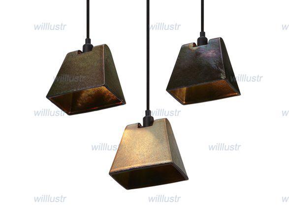 Lustre Lampe Pendentif en cuivre moderne lampe de Plafond de la ...
