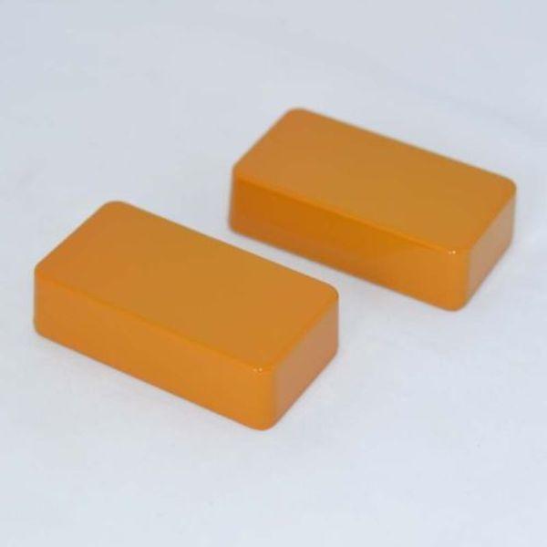 2X 1590B Style Hammond Aluminum Stomp Box Effects Pedal Enclosure Orange